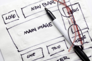 hand drawn wireframe