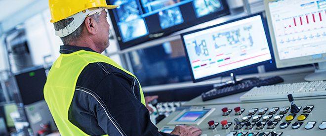 Engineer at controls