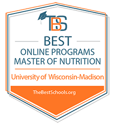 Best Master of Nutrition Badge from TheBestSchools.org